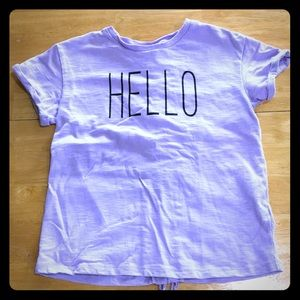 Adorable purple Hello Shirt! 💜